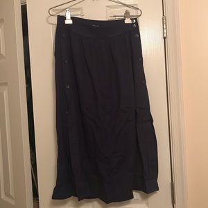 Madewell Side Button Midi Skirt, Size 4